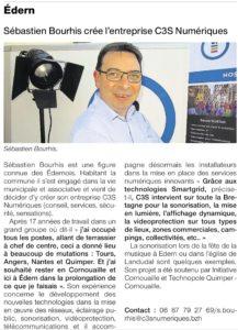 Sébastien Bourhis crée l'entreprise C3S Numériques