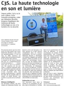 C3S Numériques. La haute technologie en son et lumière (Le télégramme 1-11-2016)